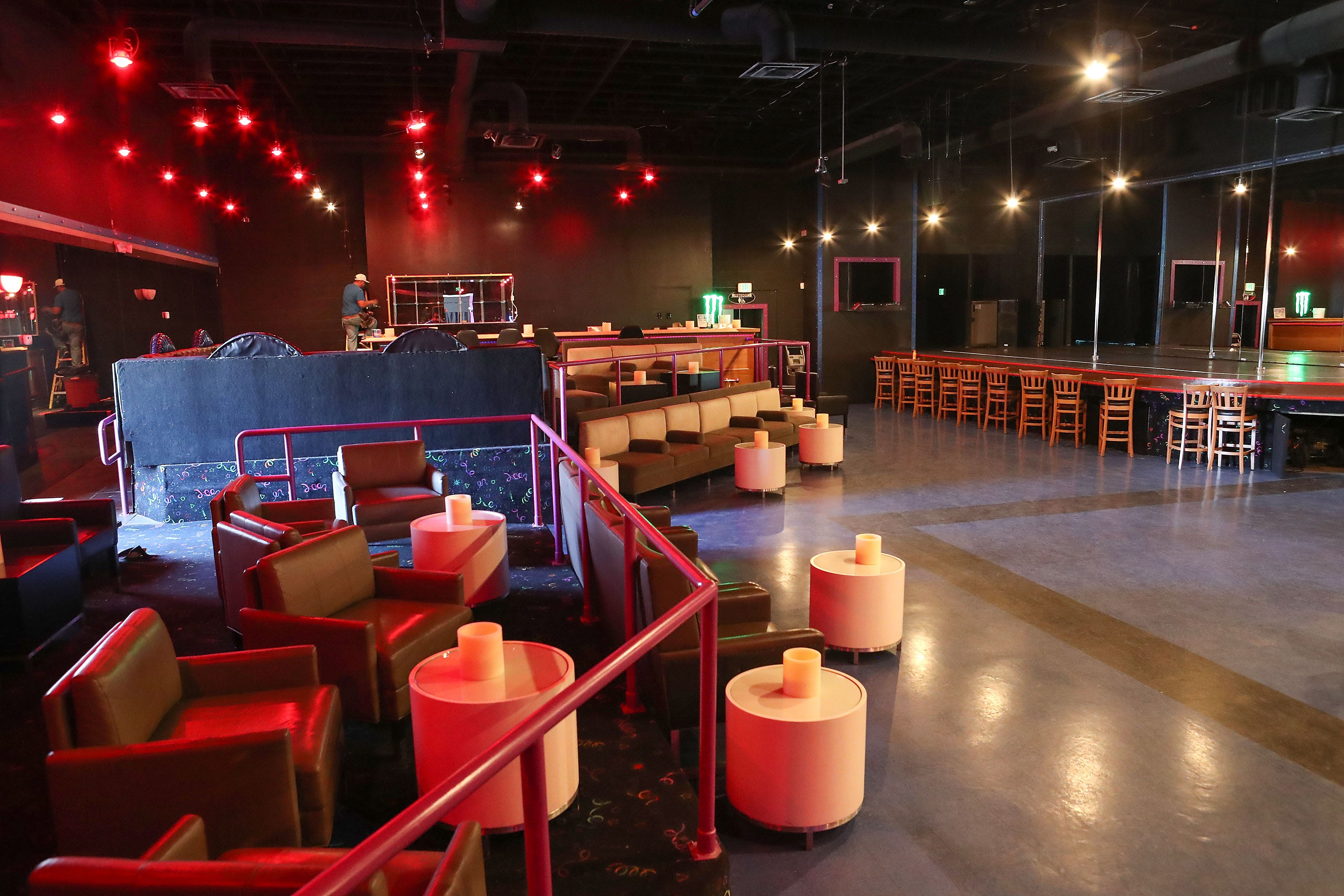 The interior of Chicas Gentlemens Club which will open & After two years of struggle a new strip club is opening in Coachella