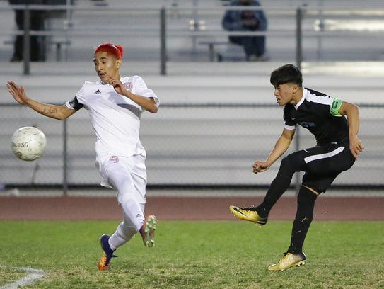 The Desert Mirage varsity soccer team won Friday's