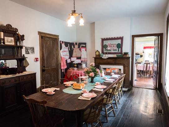 The dining room in the Historic Johnson Farm house