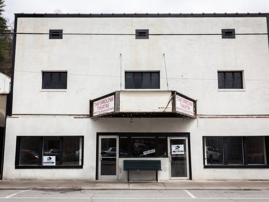 The shuttered Carolina Theater on Locust Street in