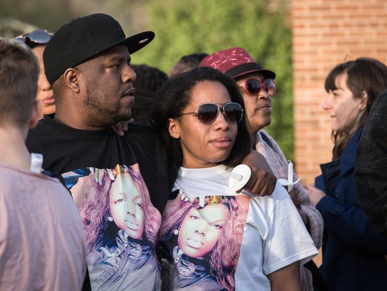 Community members gathered at New Mount Olive Church