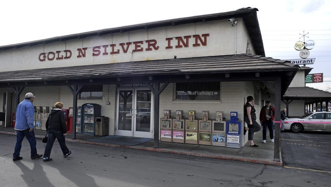 The Gold 'N Silver Inn was damaged this weekend when a driver rammed his car into some wooden posts outside the restaurant.