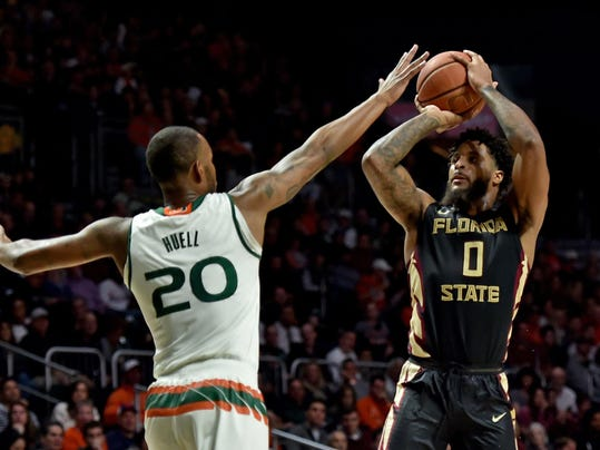 NCAA Basketball: Florida State at Miami