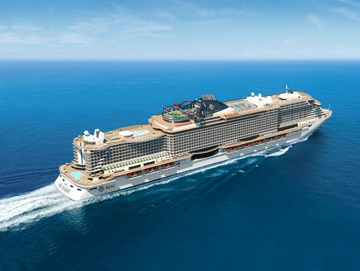 New Cruise Ships For MSC Seaside - How do cruise ships float