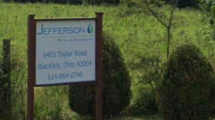Entrance sign to the Jefferson Water & Sewer District water plant at 6455 Taylor Road, Jefferson Township.