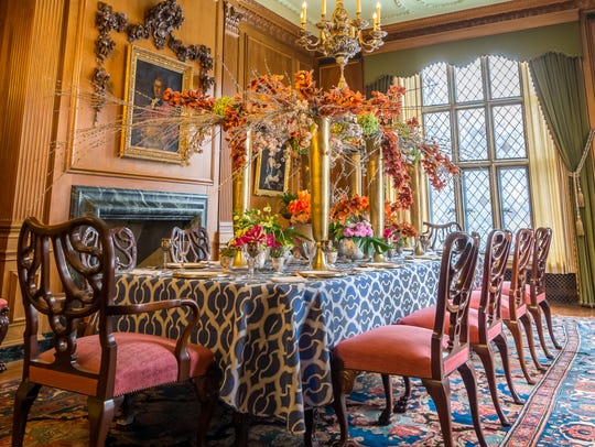 The Paine Art Center and Gardens' Rooms of Blooms exhibit