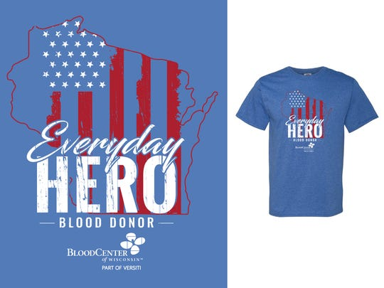 BloodCenter of Wisconsin is offering this limited-edition T-shirt to all attempting donors May 25-June 8.