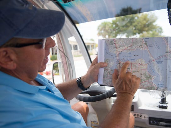 Bob Dilena, of Stuart, has been driving a Stuart courtesy