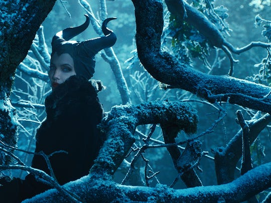 """Angelina Jolie in a scene from """"Maleficent,"""" expected for nationwide release on May 30."""