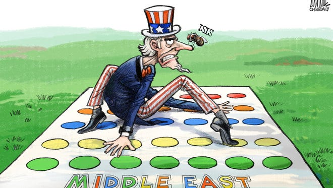 Luojie, China Daily, China, drew this Desert Sun editorial cartoon for Nov. 28, 2015.