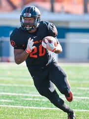 Farmington Hills resident Chauncey Bridges led Findlay with 1,229 yards rushing, which was third best in the GLIAC this season.