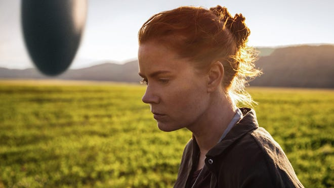 """Amy Adams as Dr. Louise Banks in a scene from the movie """"Arrival,"""" directed by Denis Villeneuve."""
