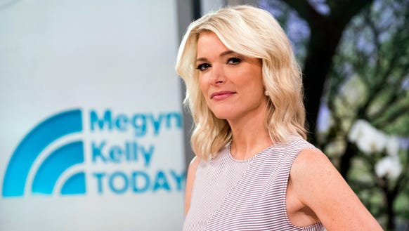 """Megyn Kelly poses on the set of her new show, """"Megyn"""