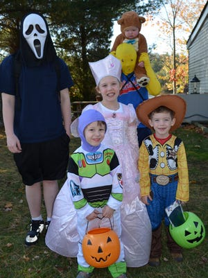 Area municipalities are announcing trick-or-treat times.