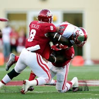 The Hoosiers bring back plenty of experience at linebacker, including Tegray Scales (8) and T.J. Simmons (2).