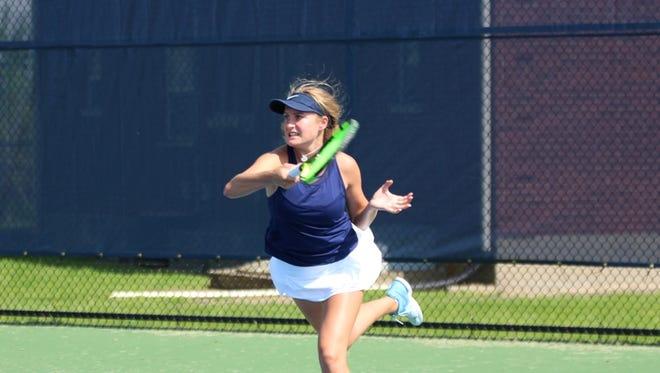 Providence tennis player Halli Trinkle.