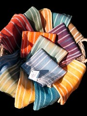 Hand dyed towels by Nikki Crain