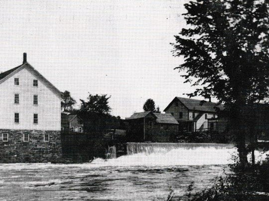 The original dam and the mill in Sheldon.