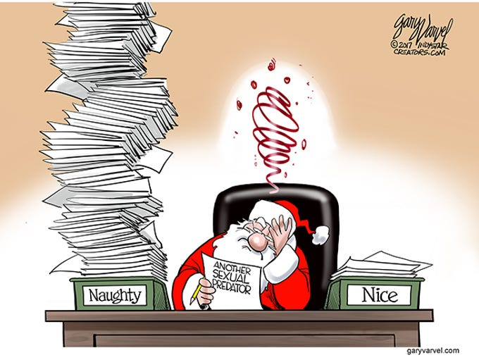 Santa Claus' naughty list is growing by the day.