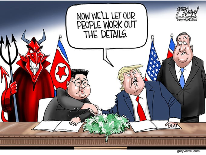 President Trump signed with Kim Jong Un signed an agreement