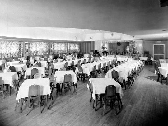 Flamingo Club newly remodeled dining room, Dec. 19, 1947