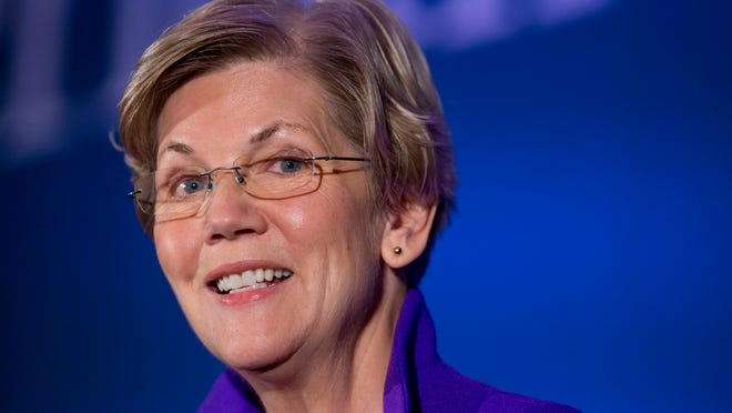 U.S. Sen. Elizabeth Warren, D-Mass., shown here in a 2014 photo, will make a campaign stop at Lansing Community College on June 4.