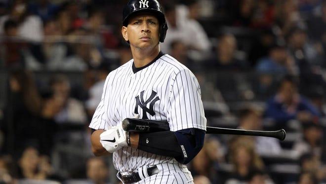 Yankees designated hitter Alex Rodriguez in September of 2013.