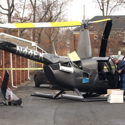 The FAA investigates after a Friday night helicopter