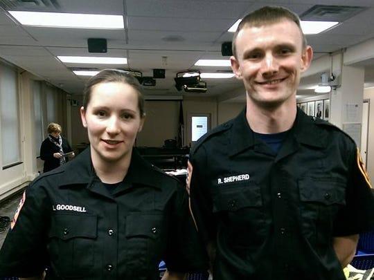 The Ithaca Fire Department has hired firefighter/emergency medical technicians Louisa Cushman Goodsell and Robert Shepherd.