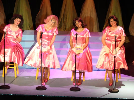 Photo above from left to right: Virginia Walker, Seva May, Troquel Riley, and Jenny Senier in The Taffetas' during Shreveport Little Theatre's 91st Season.