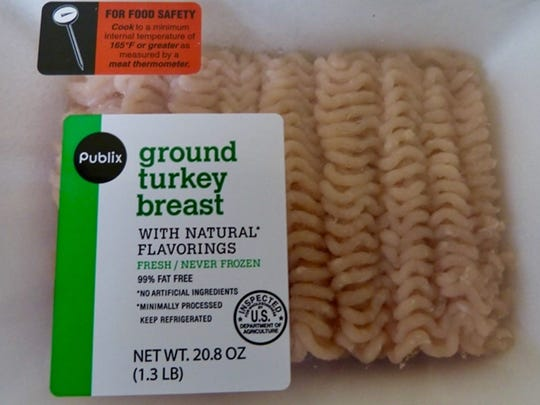 Certain packages of Publix ground turkey are part of a nationwide recall.