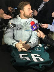 Philadelphia Eagles defensive end Chris Long talks