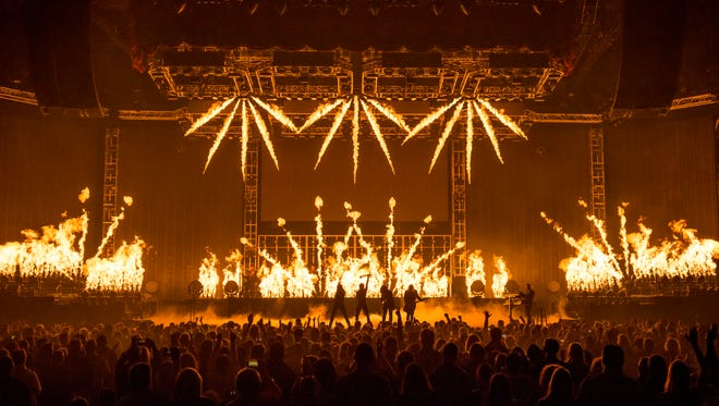 One of the hallmarks of Trans-Siberian Orchestra's holiday tour is the massive special effects and pyro.
