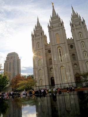 General Conference of The Church of Jesus Christ of Latter-day Saints in Salt Lake City.
