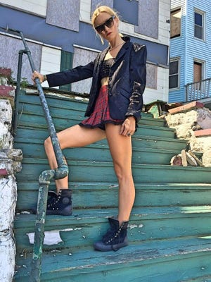 Lena Gabrielle New York sleek black blazer at Epoch Trading Post.
