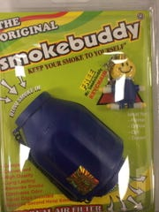 Smoke Buddy is a device used to conceal exhaled smoke. This was purchased at a local mall.