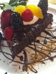 Espresso chocolate chickpea cake.