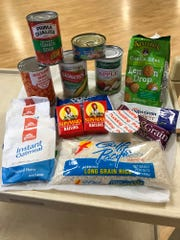 Some of the food items included in Weekend Survival