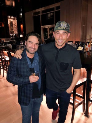 "Johnny Galecki, left, star of TV's ""The Big Bang Theory"" (and a new face on the ""Roseanne"" reboot), visited his friend Billy Dec on at Dec's new Asian food place, Sunda, in The Gulch in Nashville."