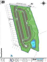 A site map for an affordable housing development proposed for construction off Antioch Church Road in Greenville County.