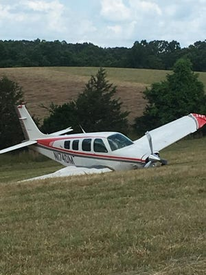 One person was slightly injured Sunday morning when a plane crash landed at Gaston's White River Resort.