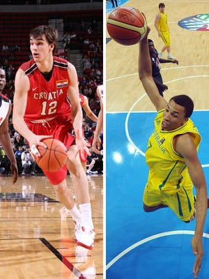 Dario Saric and Dante Exum competed in international competitions against USA players.