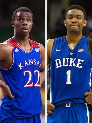 Kansas' Andrew Wiggins and Duke's Jabari Parker are the top candidates to go first and second in the 2014 NBA draft.