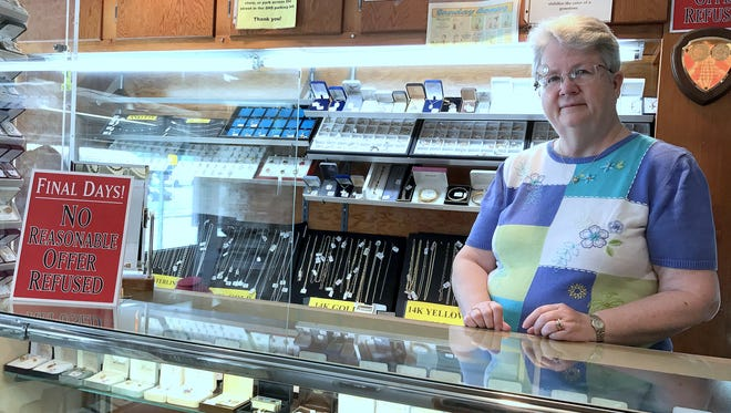 Linda Spicknall's father Kenneth Criss opened Criss Jewelers on South Main Street in Elmira 71 years ago. Now Spicknall and her husband Cameron are closing the shop for good.