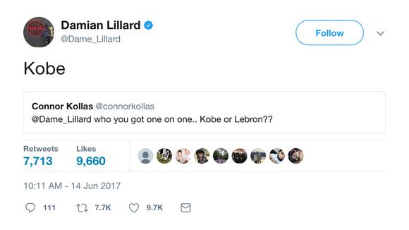 Damian Lillard shut down fan who tried to criticize LeBron James' NBA Finals record on Twitter