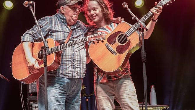 William Apostol, right, also known as Billy Strings, grew up in Muir. His stepfather, Terry Barber, left, was a picker in the Michigan bluegrass scene.