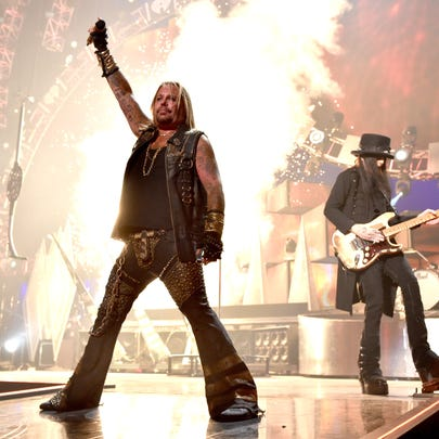 Vince Neil performing with Motley Crue in 2014.