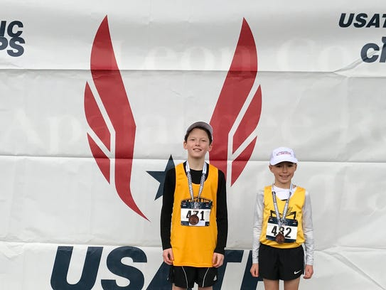William Van Etten, 8, of Chester, and Kennan Byers, 10, of Randolph, finished the 2017 cross country season as USA Track and Field All-Americans after both competed at the USATF National Jr. Olympics Championship in Tallahassee, FL on Dec. 9. Van Etten finished 17th out of 250 runners in the 8 & under 2000M race. In December, USA Track and Field NJ (USATF) named William Van Etten 8 & Under Cross Country Athlete of the Year and Kennan Byers 9-10 Cross Country Athlete of the Year.  They will be honored on January 20 at Pines Manor in Edison.