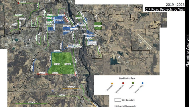 The city of St. Cloud's capital improvement plan for 2019-2023 includes new roads, lane expansions, overlays and road reconstruction projects. The proposed preliminary 2019 budget includes increased dollars for road projects.