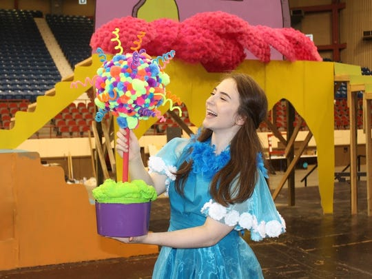 "Haley Jackson plays Gertrude in the San Angelo Broadway Academy's production of ""Seussical the Musical."""